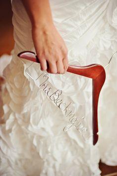 Personalized Custom Hangers Wedding Hangers Bride by LBMagnolias, $15.00