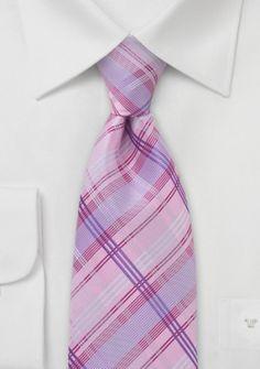 Krawatte Streifenstruktur rosé