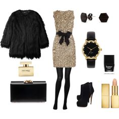 A fashion look from November 2013 featuring long coat, doll stockings and black suede booties. Browse and shop related looks. New Years Outfit, Glamour, Winter Wardrobe, How To Feel Beautiful, Passion For Fashion, Dress To Impress, Fashion Dresses, Dress Up, Fashion Jewelry