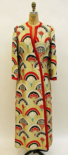 Evening ensemble Designer: Hanae Mori (Japanese, born 1926) Date: fall/winter 1974–75 Culture: Japanese Medium: silk Dimensions: [no dimensions available] Credit Line: Gift of Madame Hanae Mori, 1975 Accession Number: 1975.86.2a, b