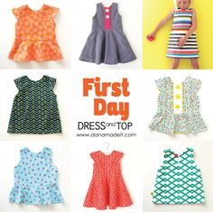 First Day Dress and Top, All patterns, Sizes 2 - 10 | MADE