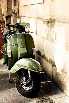Vespa in Paris France