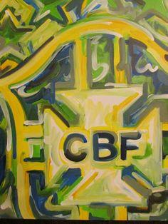 Brazil Soccer Painting by Justin Patten Sports Art by stormstriker, $90.00