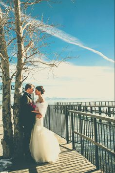 Real Winter Wedding Megan Tommy Squaw Valley Lake Tahoe Lake