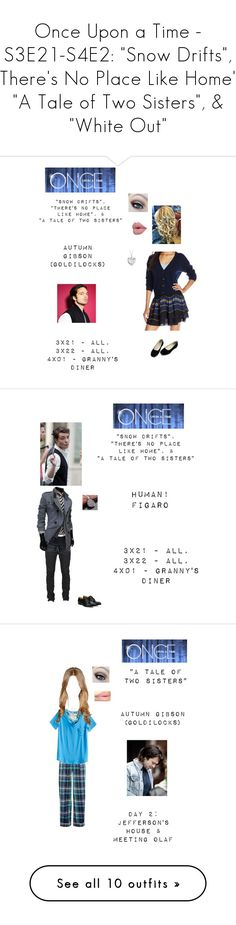 """""""Once Upon a Time - S3E21-S4E2: """"Snow Drifts"""", """"There's No Place Like Home"""", """"A Tale of Two Sisters"""", & """"White Out"""""""" by nerdbucket ❤ liked on Polyvore featuring ouat, Juicy Couture, Blue Nile, Levi's, Church's, men's fashion, menswear, M&Co, Vera Bradley and Sebastian Professional"""