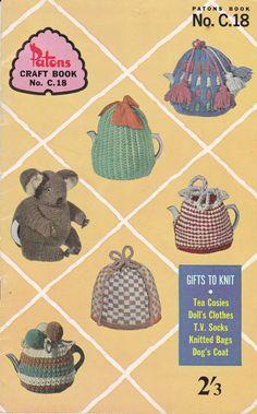 Patons C18 Knitting & Crochet Patterns  Vintage tea cosy patterns