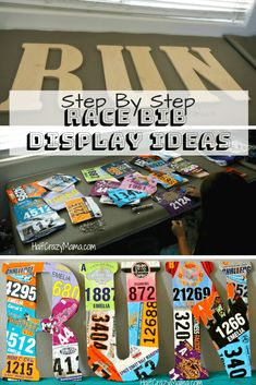 Race Bib Display- What to do with your old race bibs