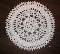 White Crocheted Doily Item 003 by CrochetBySusie on Etsy, $3.50