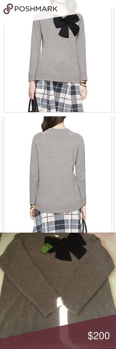 Kate Spade Bow Sweater NWT Size Large Kate Spade Bow Sweater NWT Size Large kate spade Sweaters Crew & Scoop Necks