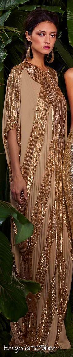 Naeem Khan Resort 2016 v Boho Outfits, Stylish Outfits, Gold Fashion, Womens Fashion, Outfits Damen, Naeem Khan, Fall Skirts, Designer Gowns, Look Chic