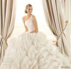 pronovias 2013 wedding dresses dora one shoulder