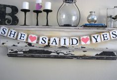 Wedding Banner  Engagement Party Decoration  by GreenJazzFace, $22.00