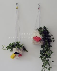I think it's pretty easy to see where my inspiration for these woven hanging planters came from. Take one hanging planter, mix with a woven wall hanging and you've got yourself an indoor garden party! Patterns and form influences from 1960's fibre art and my ever growing collection of wool and yarn took over, and without any …
