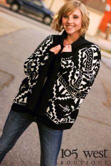 We love comfy, cozy sweaters!  105 West Boutique, Abbeville, SC.