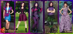 #Descendants Which Mal outfit is your favorite? Aaa my favourite outfit of hers isn't in this pic!