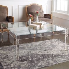 Clear Coffee Table, Lucite Coffee Tables, Modern Coffee Tables, Modern Table, Acrylic Furniture, Furniture Decor, Modern Furniture, Lucite Furniture, Sideboard Furniture
