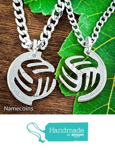 Volleyball Necklace Gifts for Best Friends from NameCoins https://www.amazon.com/dp/B01A62FSLW/ref=hnd_sw_r_pi_dp_LDTyxbX6HEBQ7 #handmadeatamazon