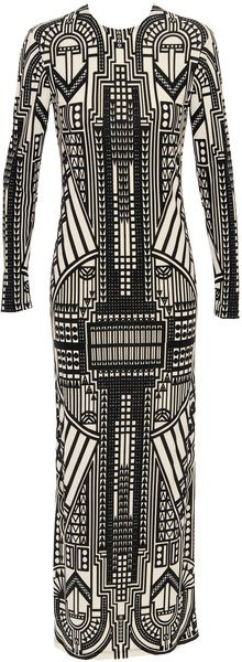 HOLLY FULTON Long Dress with Allover Print