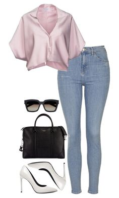 """""""Sin título #2080"""" by namelessale ❤ liked on Polyvore featuring Topshop, Vionnet, Yves Saint Laurent and Givenchy"""