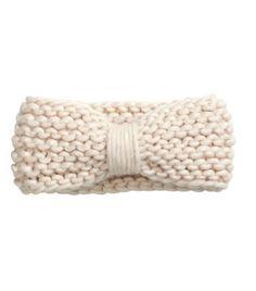 H&M bow knit headband #spon