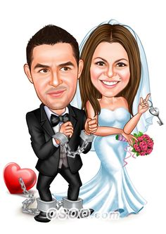 Shop for Caricature artist draw cartoon portrait and Custom Cartoon logo, business card, poster, banner design for your business. Wedding Illustration, Family Illustration, Illustration Artists, Cartoon Logo, Cartoon Design, Wedding Caricature, Wedding People, Selling On Instagram, Caricature Artist