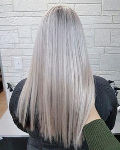 #grey #silver #ombre #colormelt #greyhair #balayage #matrix #blonde