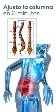 Ajusta la columna en 2 minutos, eliminar el dolor de espalda, estiramientos para fortalecer los musculos sin ejercicios Yoga Poses, Health Care, Health Tips, Dor No Nervo, Anubis, Tan Solo, Basic Yoga, Nutrition, Rosario
