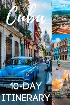 Planning a trip to Cuba? Find out all the best things to do, places to see and how to spend 10 days in Cuba with this ultimate Cuba itinerary and travel guide! Cuba Travel, Solo Travel, Travel Usa, Cuba Tourism, Places To Travel, Places To See, Travel Destinations, Barbados, Cuba Itinerary