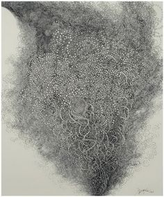 Hiroyuki Doi, Untitled (HD 10808), 2008 ink on paper, 18x15inches