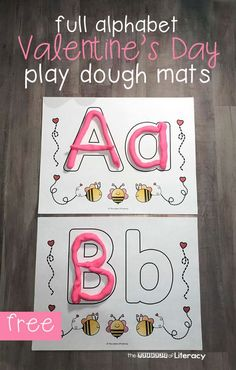 Have fun learning the alphabet this Valentine's Day with these fun, hands-on Valentine play dough mats! They are perfect for Preschool, Pre-K and Kindergarten classrooms for an engaging Valentine's Day literacy center. #valentinesday #preschool #kindergarten #teachersfollowteachers