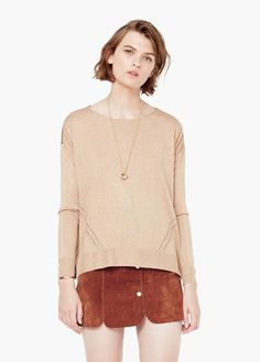 Contrast trim sweater | MANGO 50