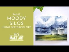 Do you love thunderstorms? In this project you will learn how to create a moody, stormy sky against a familiar sight in the Midwest - si. Watercolor Beginner, Watercolor Art Diy, Watercolor Painting Techniques, Watercolor Projects, Watercolour Tutorials, Watercolor Landscape, Let's Make Art, Art Tutorials, Thunderstorms