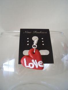 www.ivankaslittletreasures.com $9.99 #ivankaslittletreasures #Handmade #Polymerclay #Pendant #Jewelry #Heart #Red #Love #Valentine's