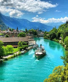 Interlaken, Switzerland is definitely on my list of places to visit in the future! ❤️🌎- switzerland travel - switzerland travel photography - places to visit in switzerland - Places Around The World, Travel Around The World, Places In Switzerland, Switzerland Interlaken, Thun Switzerland, Switzerland Destinations, Destination Voyage, Beautiful Places To Travel, Wonderful Places