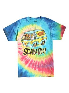 Scooby-Doo Gang Tie Dye T-Shirt, TIE DYE