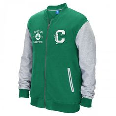 adidas Celtics Originals Varisty Full Zip Fleece Jacket [Green] | Celtics Store