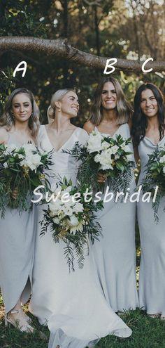 Elegant Simple V-neck Sleeveless Floor-length Party Dresses Long Bridesmaid Dresses, SW1097 Cheap Bridesmaid Dresses, Cheap Dresses, Dresses For Sale, Affordable Dresses, Famous Brands, Dream Dress, Pretty Dresses, Dress Making, Party Dress