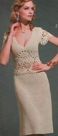 Elegante jurk gehaakte                                                       …