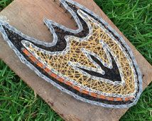 Made to Order - Anaheim Ducks Inspired - Nail and String Art