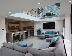Office interior architecture and design Bungalow Extensions, Garden Room Extensions, House Extensions, Kitchen Extensions, House Extension Plans, House Extension Design, Extension Ideas, Rear Extension, Dream Home Design