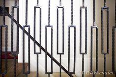 mid century modern stair railing - Google Search