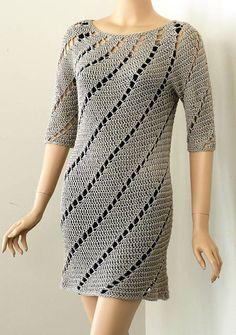 Doris Chan Top-Down Crochet Dress ♪ ♪ ... #inspiration #crochet #knit #diy GB