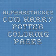alphabetacres.com Harry Potter Coloring Pages