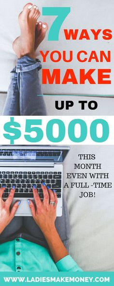 Great ideas to make extra money this month even with a full time job. How to make extra money from home. Make money on the side. How to make quick money fast from working online. Tips for stay at home moms to make more money Make Quick Money, Make Money Blogging, Money Tips, Way To Make Money, How To Earn Money, Tips On Saving Money, Need Money Fast, Earning Money, How To Make
