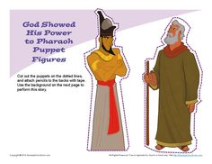 Moses Confronted Pharaoh Puppets | Children's Bible Crafts and Activities