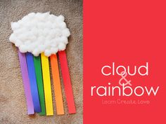 { Cloud & Rainbow Craft } from LearnCreateLove.com