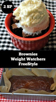 Brownies Weight Watchers FreeStyle 2 SmartPoints - There are so many great Weight Watcher Friendly Dessert recipes out there and these brownies are no exception! These are delicious and just 2 SmartPoints on the new FreeStyle program. Plats Weight Watchers, Weight Watchers Snacks, Weight Watcher Dinners, Weight Watchers Points, Weight Watcher Mug Cake, Ww Desserts, Healthy Desserts, Healthy Recipes, Diabetic Desserts