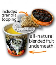Rush Bowls: A Quick Healthy Breakfast on-the-Go. I'm going to have to try these!