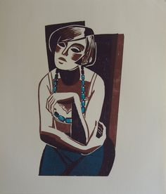 Heinz Frederich Original Woodcut Print - Vintage Limited Edition Typography Woodcut