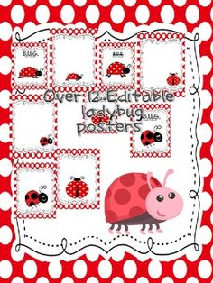 This packet includes 12 different ladybug posters that are editable. They can be used forI can chartsclassroom rulesK-W-L chartspostersand...